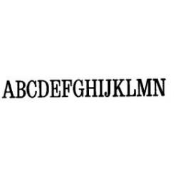 Tipo Letras N. 580  _3 Mm._
