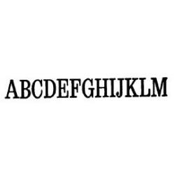 Tipo Letras N. 581  _4 Mm._